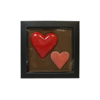 "Молочный шоколад CHCO ""Chocbar XL De Luxe Love Edition - Два сердца"" (300 г)"